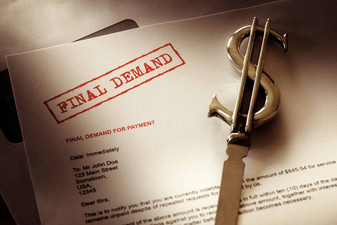 What are my legal options if I receive a collection letter?